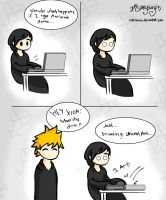 Xion Finds The Yaoi by Laikkuseia