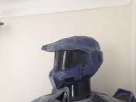 halo 3 helmet closer up by Forbeyance