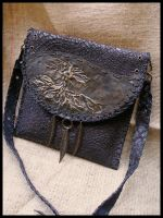 """Earth"" leather handbag by morgenland"