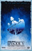 Star Wars Episode V The Empire Strikes Back Poster by DanieleRedRossini