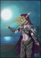 Sylvanas Windrunner Colored by kuhu