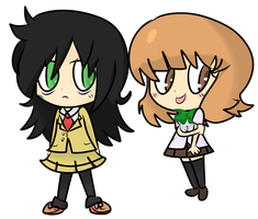 Tomoko and Yuu-chan by Regal-Squirrel