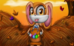 Cream the Rabbit contest entry speedpaint-vidlink- by The-Great-Bunbutchi