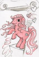 Postmodern Pony Thank You Note by Cebulaa