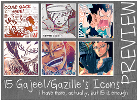 Gajeel's Icons by RavenNoodle