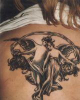 angel lovers tattoo by cannibol