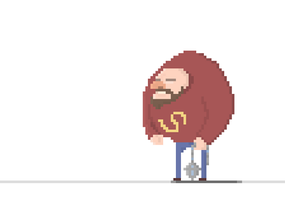Crazy Pixel Thug Walk [Animated] :) by HarveyDentMustDie