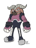 .:Axel the Water Buffalo:. by Knuxtiger4