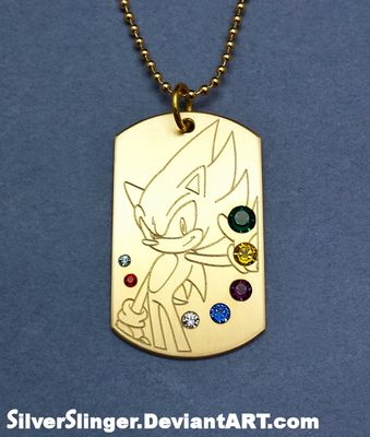 Seven Emeralds Dog Tag by SilverSlinger
