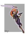 Mara Jade Sketch by KMRicker