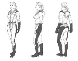 Captain Glenn Costume Study by AldgerRelpa
