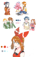 Pokemon + Digimon Sketchdump by jojostory