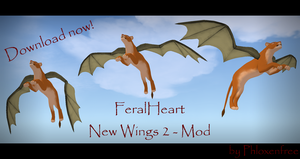 MOD - NEW WINGS2 FOR FERALHEART - NEW RELEASE by Phloxenfree