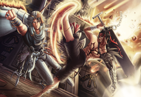 DAC2MTR2 : Jecht vs Firion by Vianiel