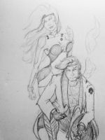 Classic Rogue and Gambit by kileyelik