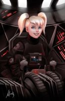 Randi Trainor: TIE fighter pilot by Mauricio-Morali