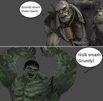 Injustice: Solomon Grundy vs Hulk by xXTrettaXx