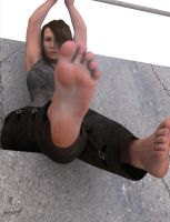 Jennifer's Foot by restif