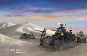 To the front line by Waffle0708