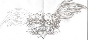 Onkelz Tattoo Hearth Wings by 2Face-Tattoo