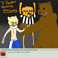 Serious Finn Q7 - Bear Wrestling by Ask-SeriousFinn