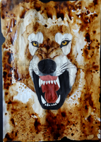 Angry Coffee Wolf by Evelinapoodle