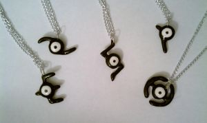 Pokemon Unown Necklace by LittleLoveInc