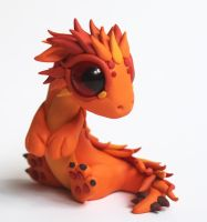 Baby Fire Dragon by BittyBiteyOnes
