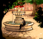 SJA: Rusty by the fountain by student-yuuto