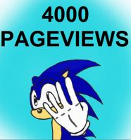 sonic 4000 pageviews by unforgiven1228