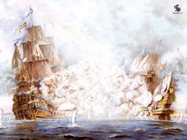 Galleons of War by Avignon-Pope