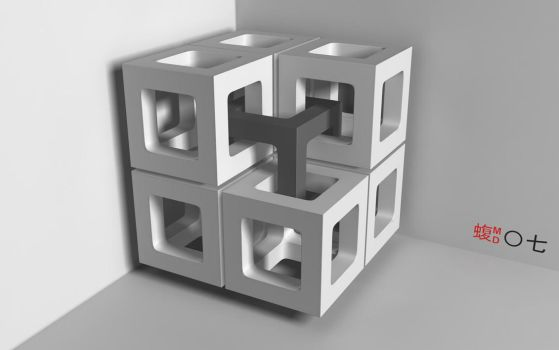 Interlocking Cubes by vipermd