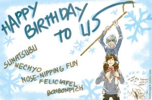 ROTG fanart - HBD to us BF shippers born in March by BonBonPich