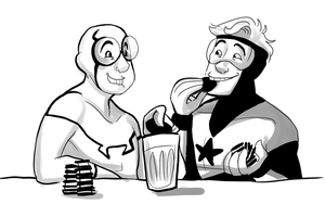 JLI: STOLE ALL DA COOKIES by Puffintalk