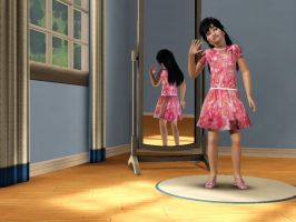 Sims 3 - Me in child form in formal outfit 3 by Magic-Kristina-KW