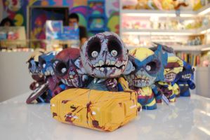 Custom Kidrobot Munny Marvel Zombies by aninonymous