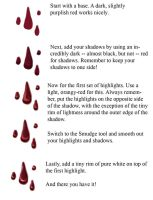 Tutorial: Blood Drops by Raenstrife