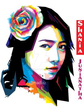 Shania jkt48 fans art wpap by MadiazRoby