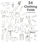 34 Clothing Folds by WatermelonOwl