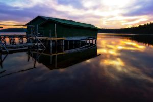 Lonely Boathouse by Toni-R