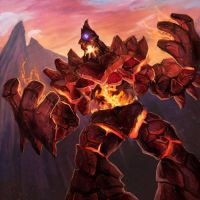Stone Forged Fire Golem by pinkhavok