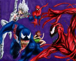 Spidey, Venom, Sable, Carnage by artguyNJ