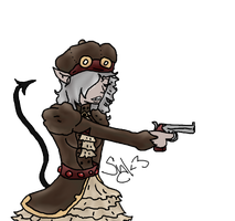 Steampunk Syl by rivetborn