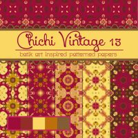 Free Chichi Vintage 13 Patterned Papers by TeacherYanie