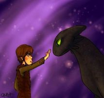 Hiccup and Toothless by tLRoH
