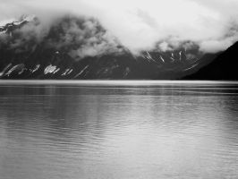 Alaskan Coast in BW by Momofbjl