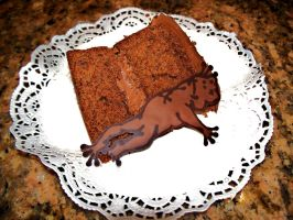 Chocolate cake and frog by Sydney0007