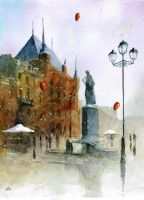 Watercolour from Torun by sanderus