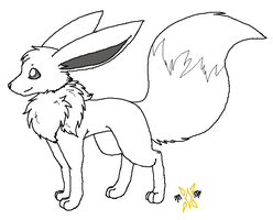 Eevee template 2 by min-mew