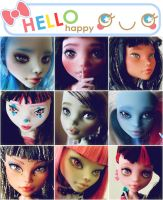 my monster high repaints by hellohappycrafts